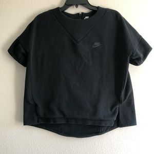 Nike Lab Cropped Sweatshirt Tee Medium EUC BLACK